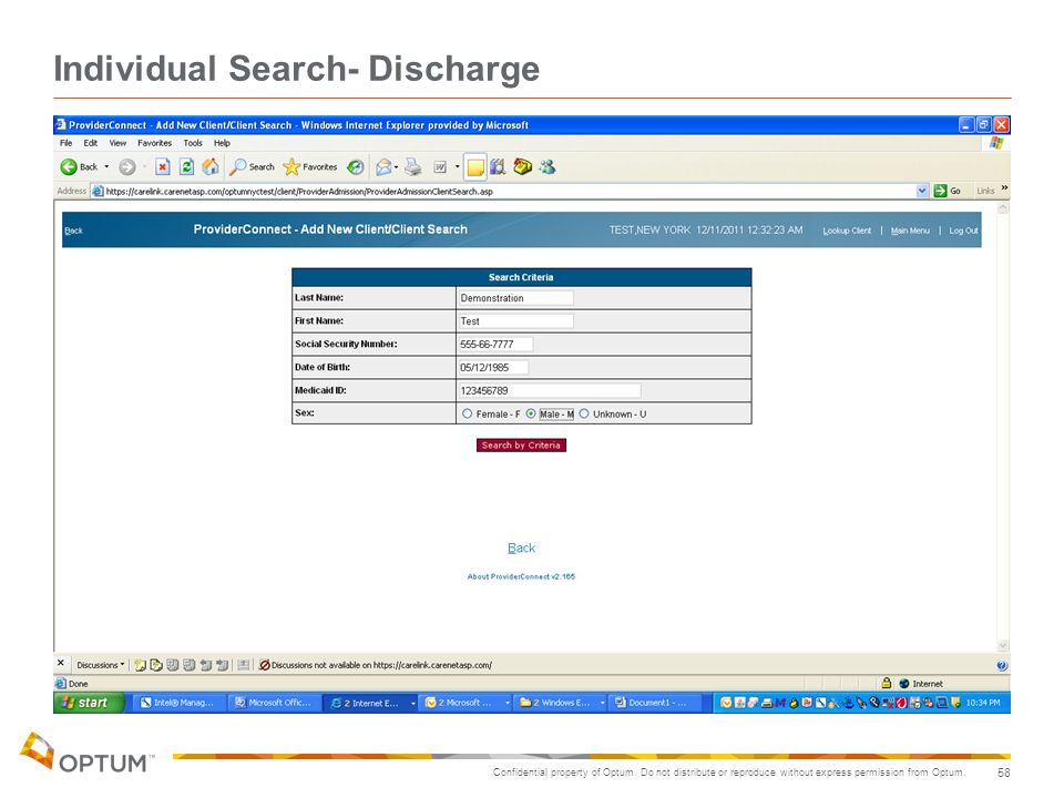 Individual Search- Discharge
