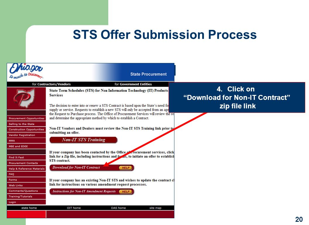STS Offer Submission Process Download for Non-IT Contract