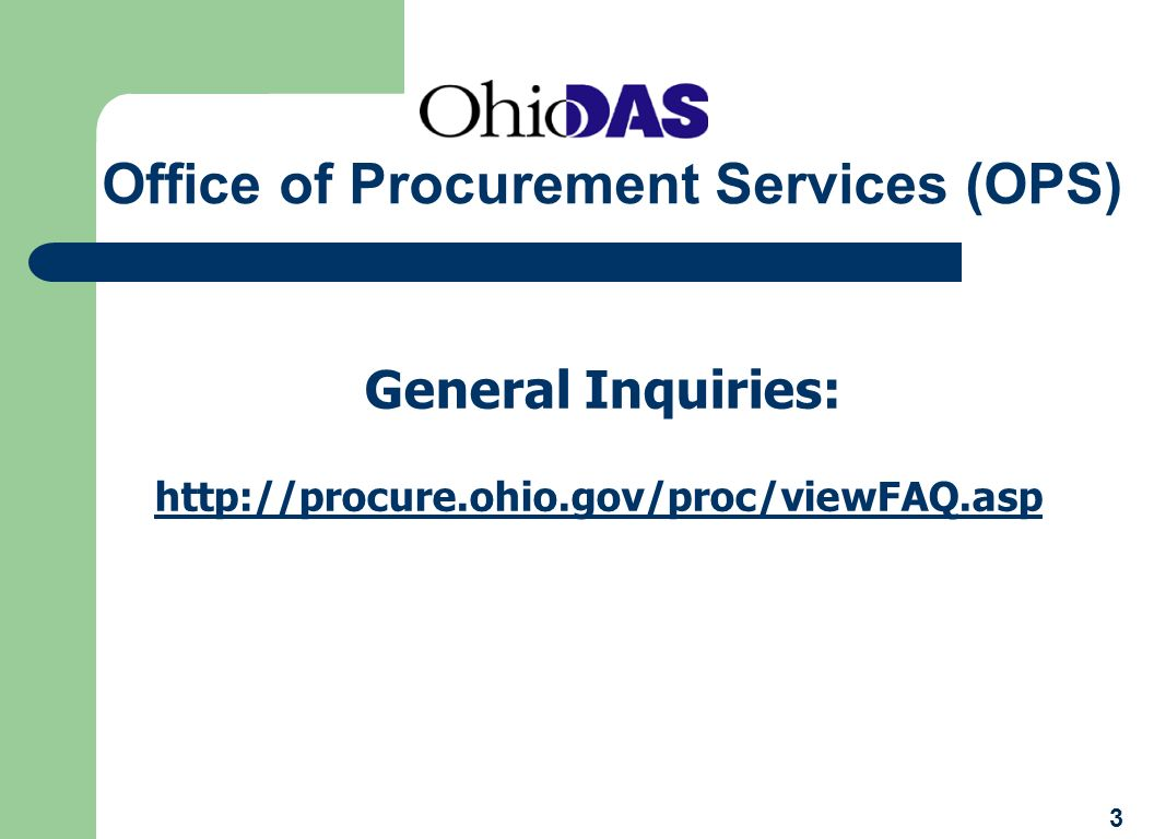 Office of Procurement Services (OPS)