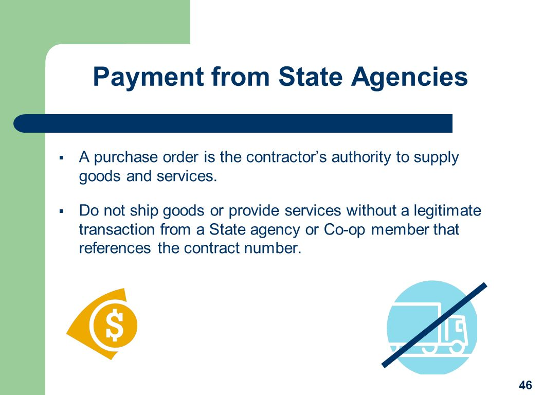 Payment from State Agencies