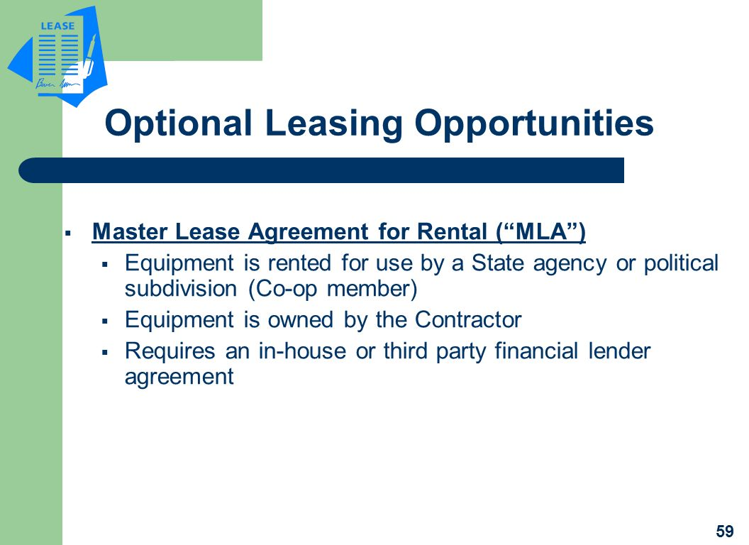 Optional Leasing Opportunities