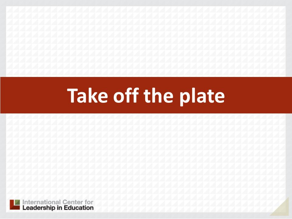 Take off the plate