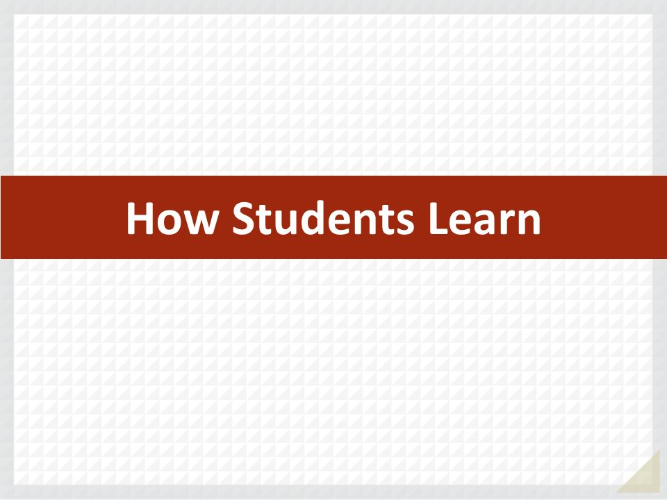 How Students Learn
