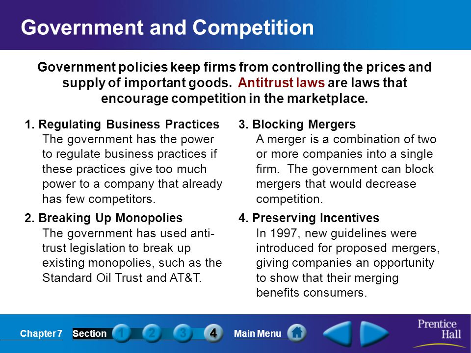 Government and Competition