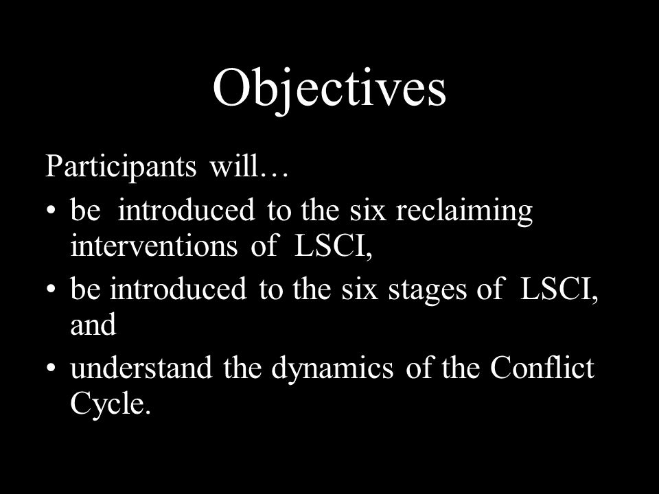 Objectives Participants will…