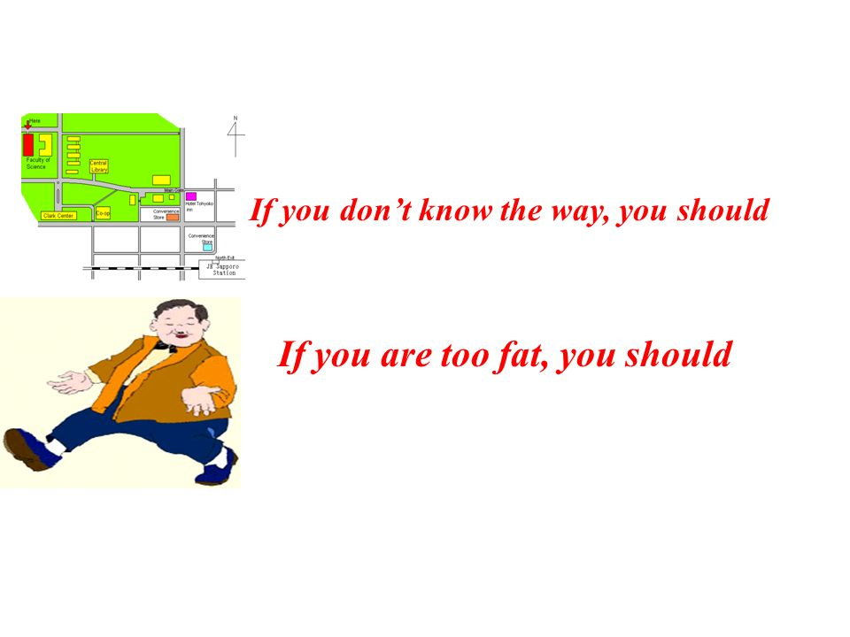 If you are too fat, you should