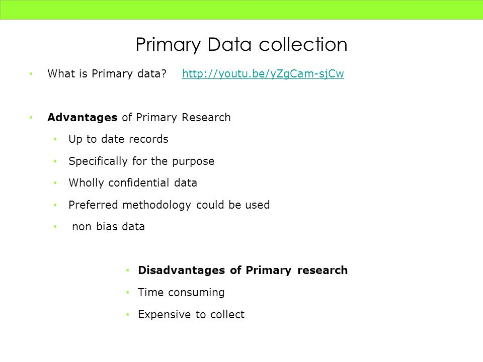 Primary Data collection