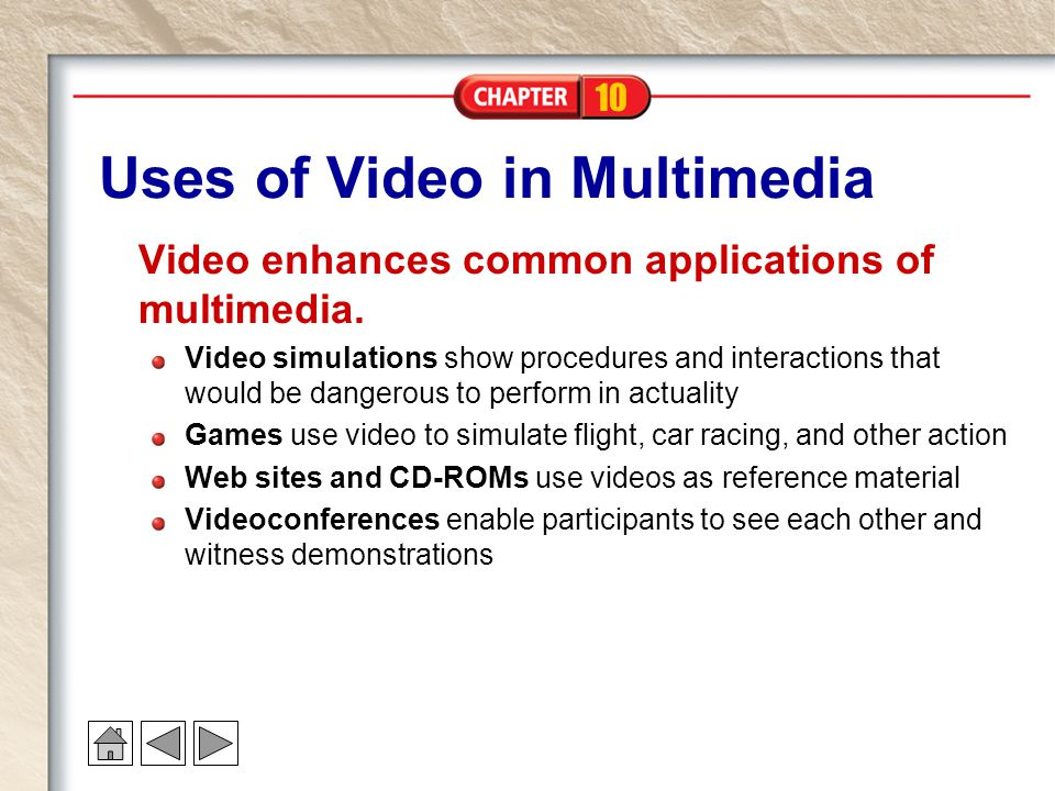 Uses of Video in Multimedia