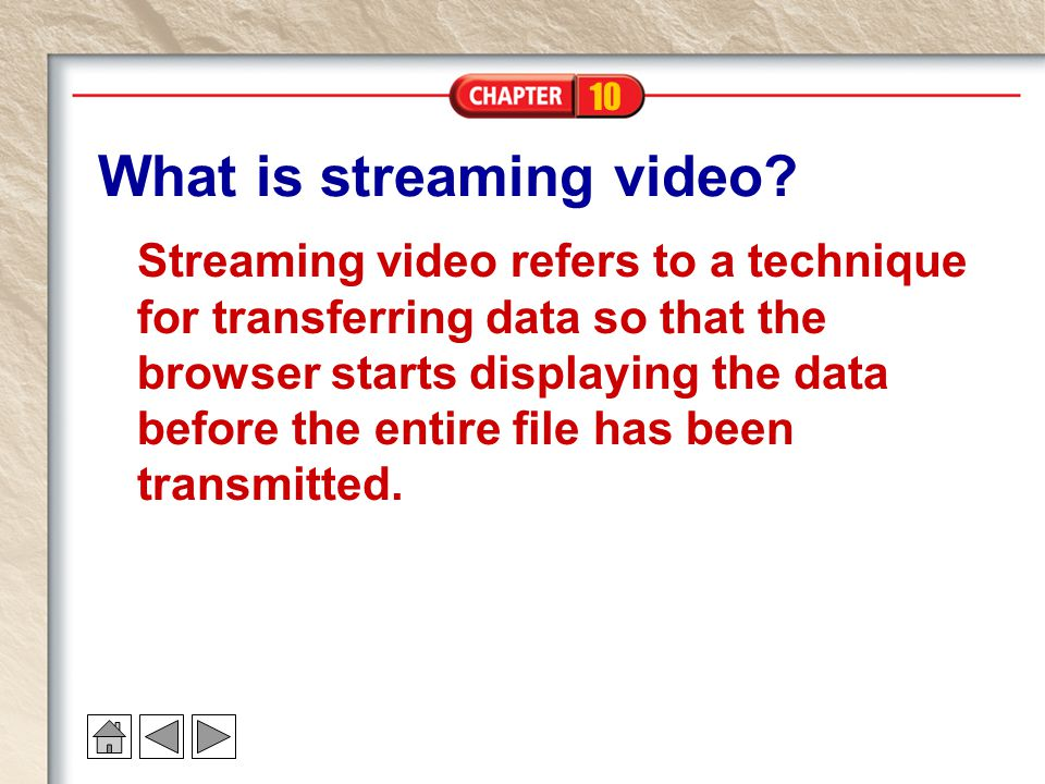 What is streaming video