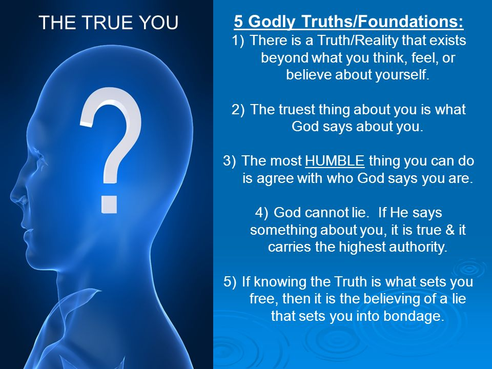 5 Godly Truths/Foundations: