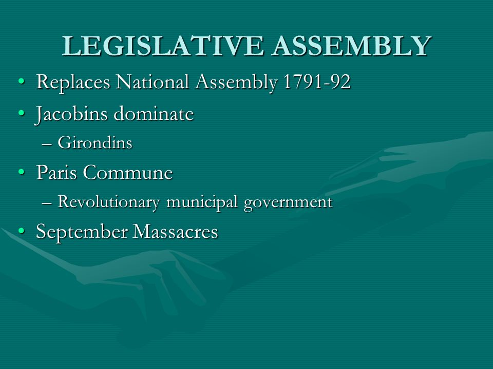LEGISLATIVE ASSEMBLY Replaces National Assembly