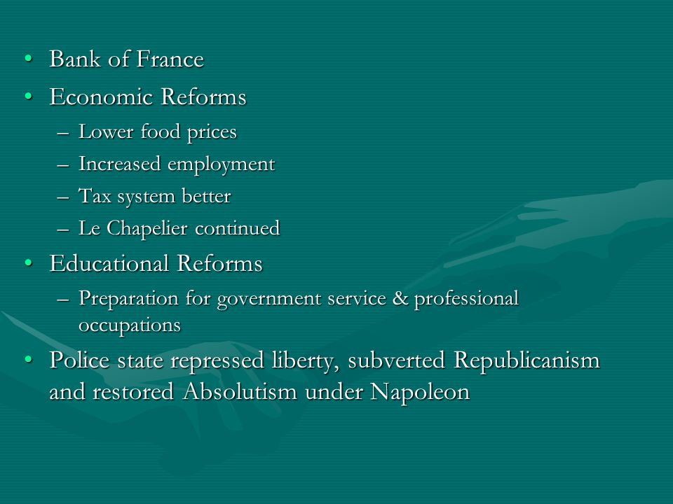 Bank of France Economic Reforms Educational Reforms