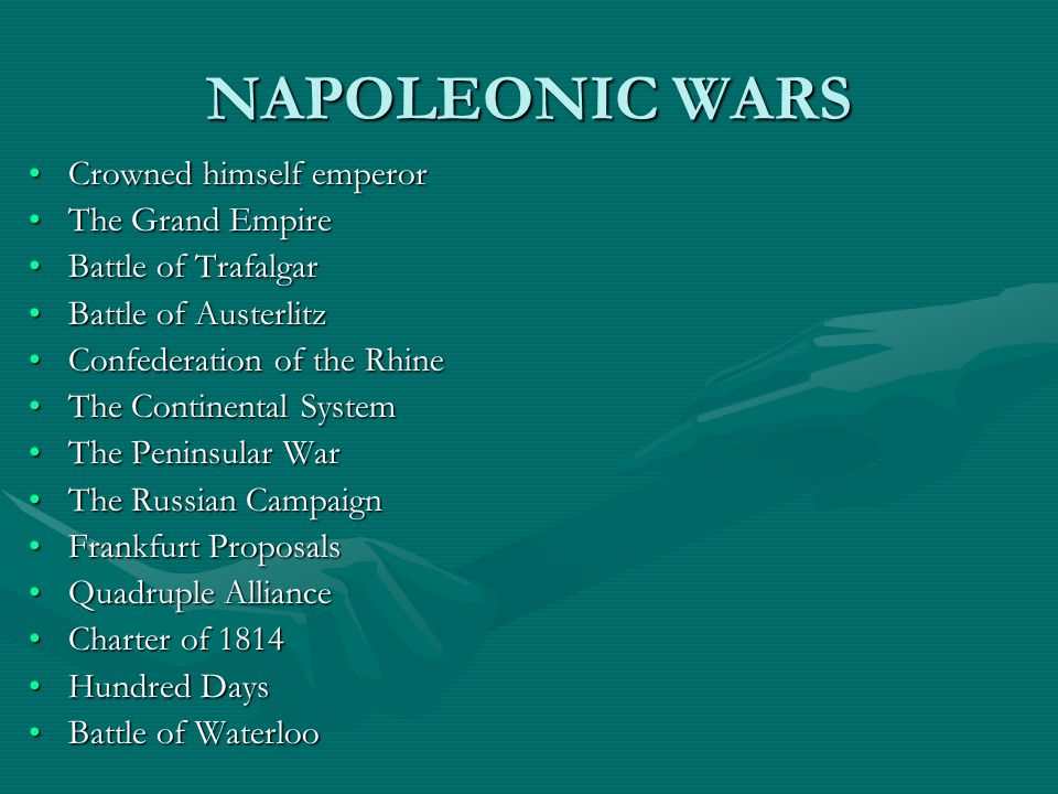 NAPOLEONIC WARS Crowned himself emperor The Grand Empire