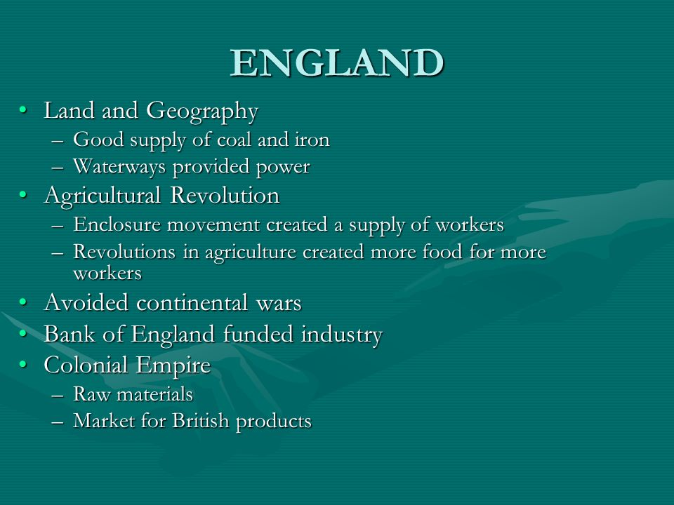 ENGLAND Land and Geography Agricultural Revolution