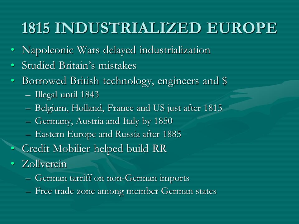 1815 INDUSTRIALIZED EUROPE