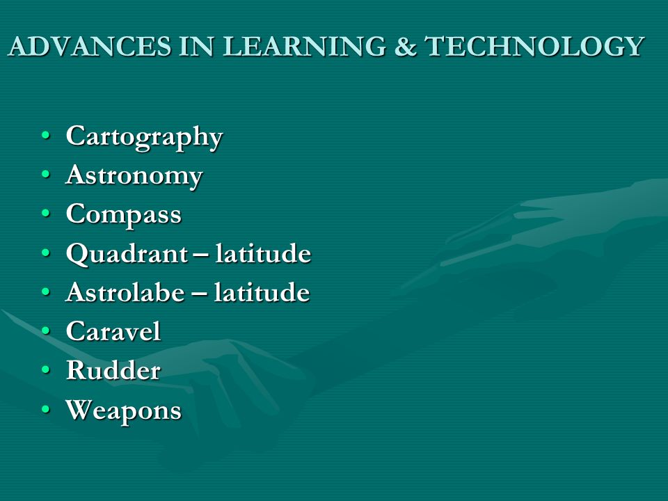 ADVANCES IN LEARNING & TECHNOLOGY