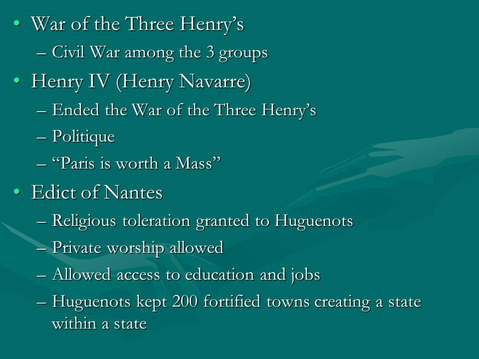 War of the Three Henry's Henry IV (Henry Navarre)