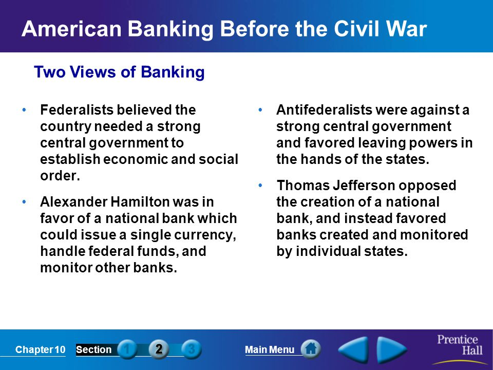 American Banking Before the Civil War