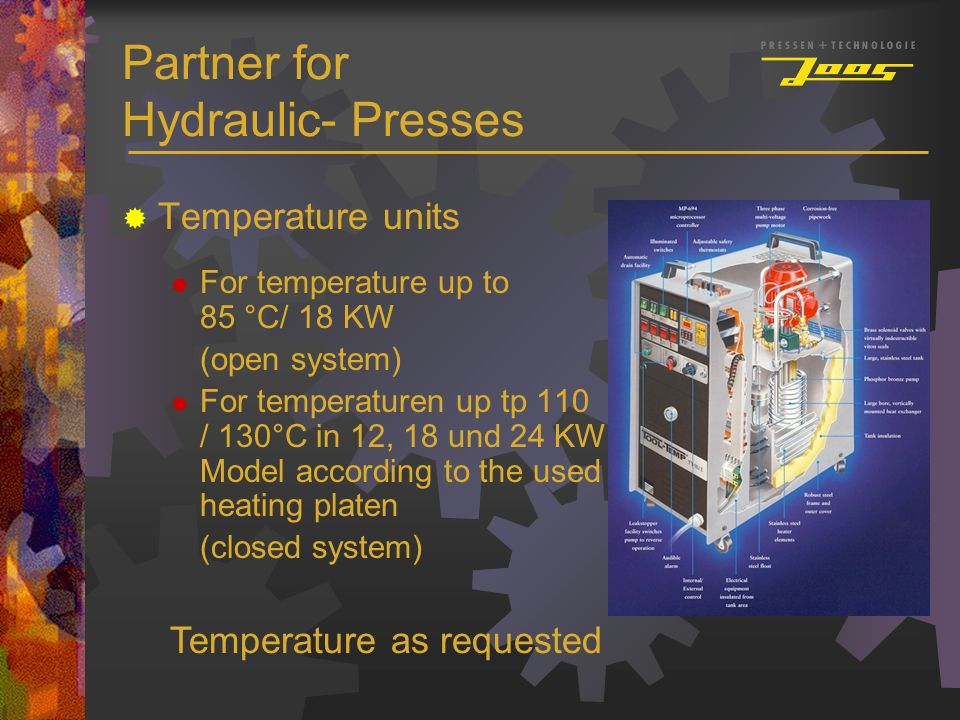 Partner for Hydraulic- Presses