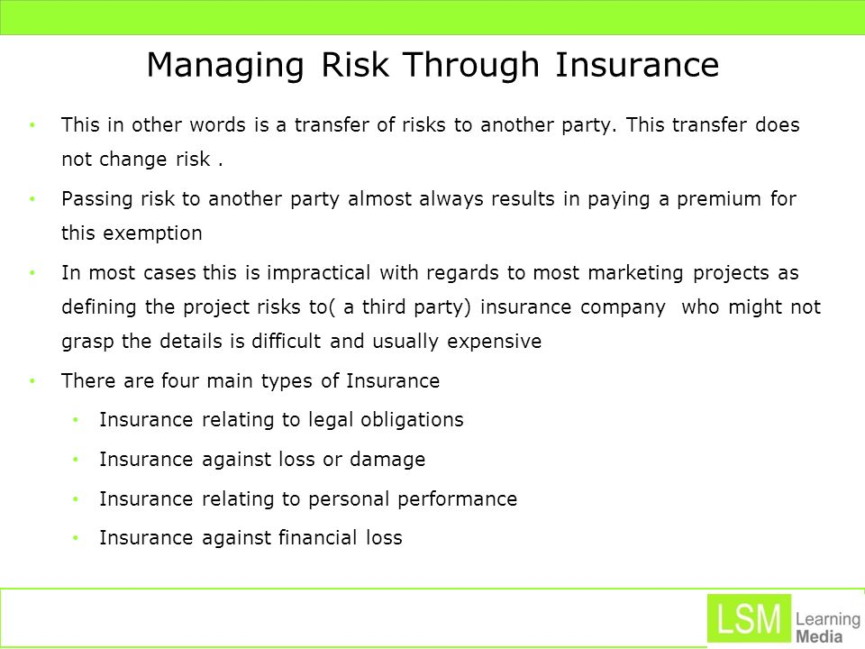 Managing Risk Through Insurance