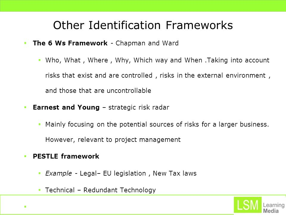 Other Identification Frameworks