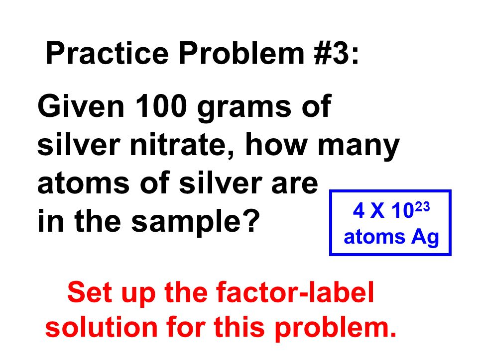 Set up the factor-label solution for this problem.
