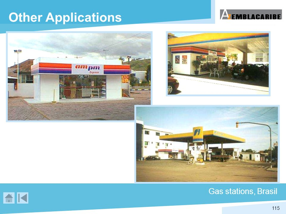 Other Applications Gas stations, Brasil