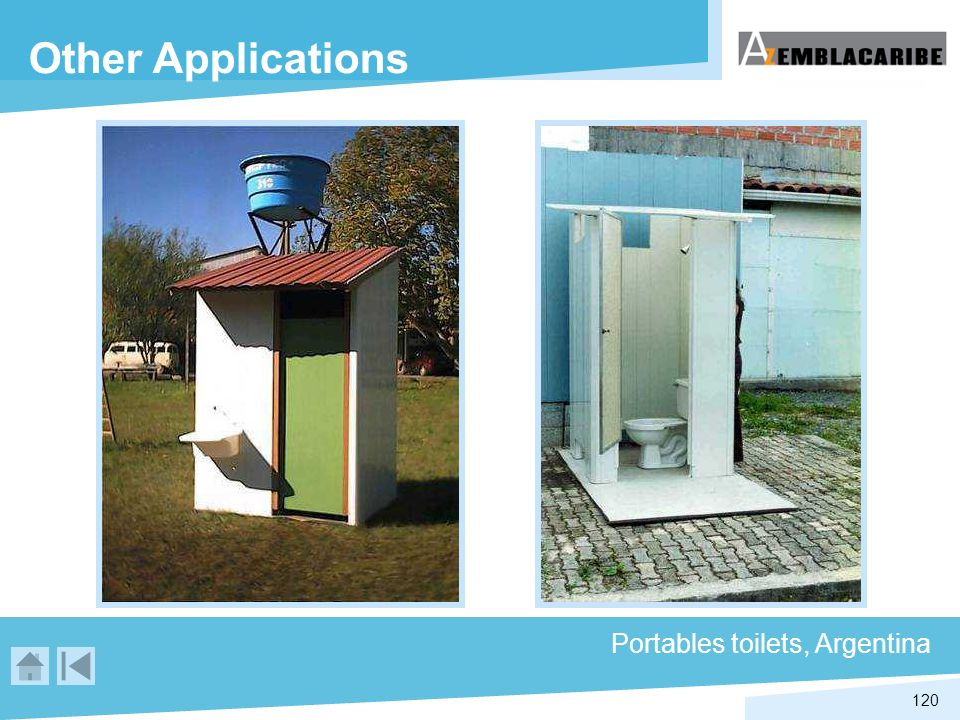 Other Applications Portables toilets, Argentina