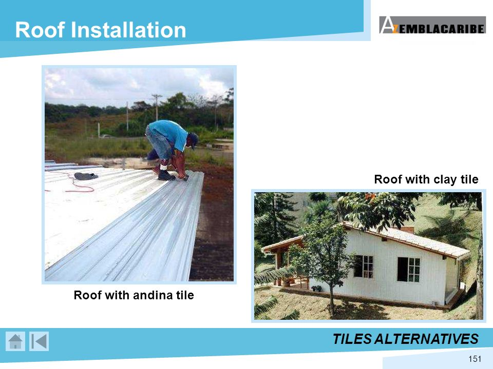 Roof Installation TILES ALTERNATIVES Roof with clay tile