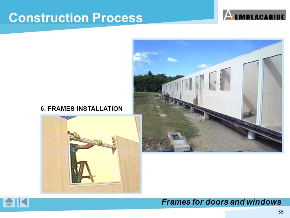 Construction Process Frames for doors and windows