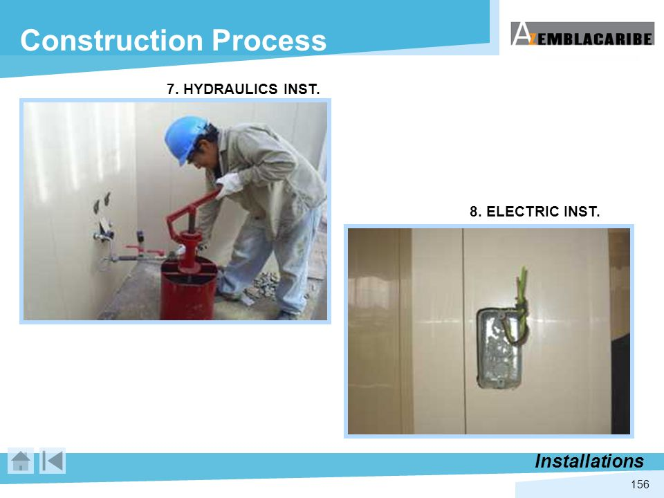 Construction Process Installations 7. HYDRAULICS INST.