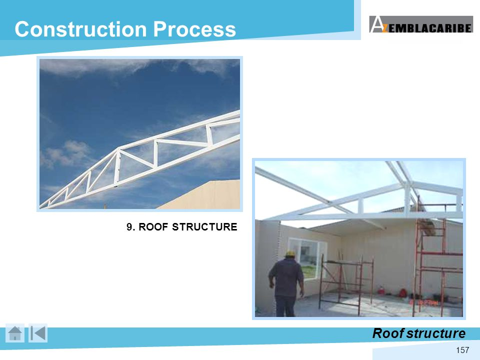 Construction Process 9. ROOF STRUCTURE Roof structure