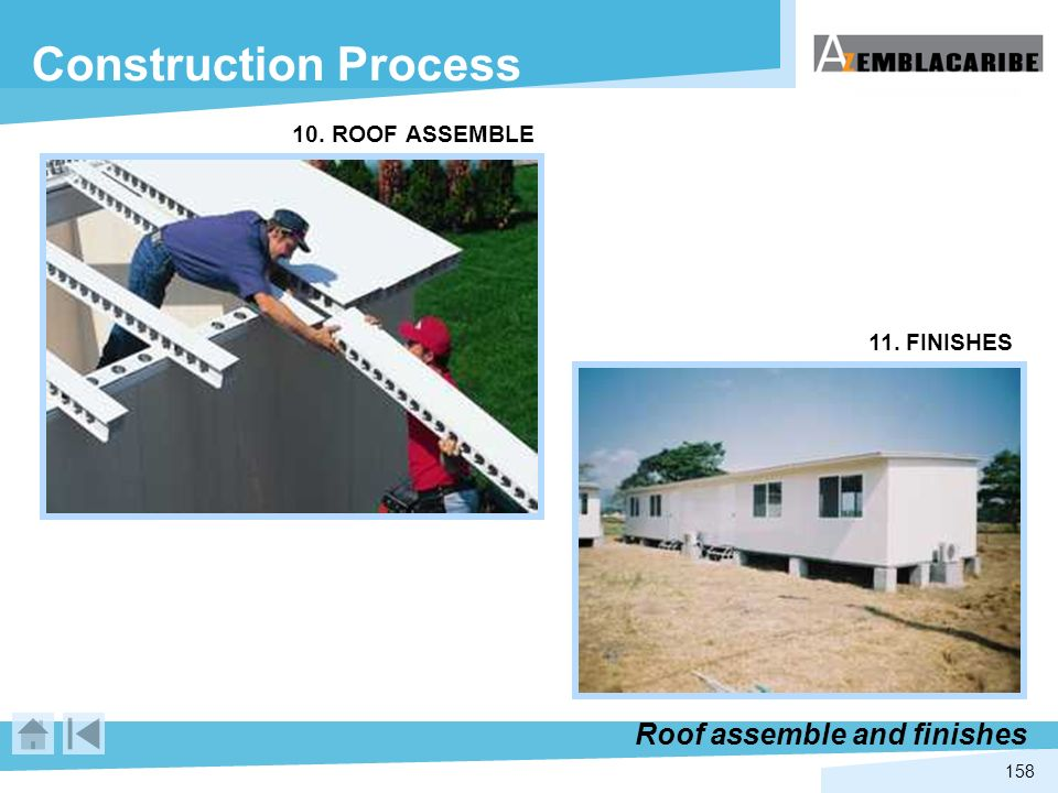 Construction Process Roof assemble and finishes 10. ROOF ASSEMBLE