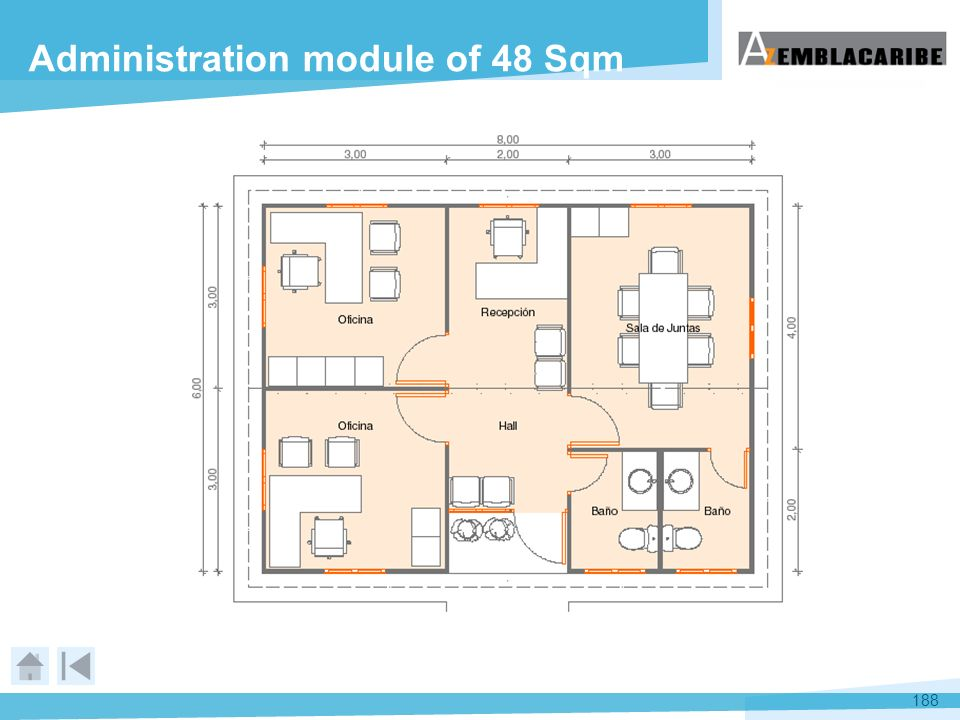 Administration module of 48 Sqm