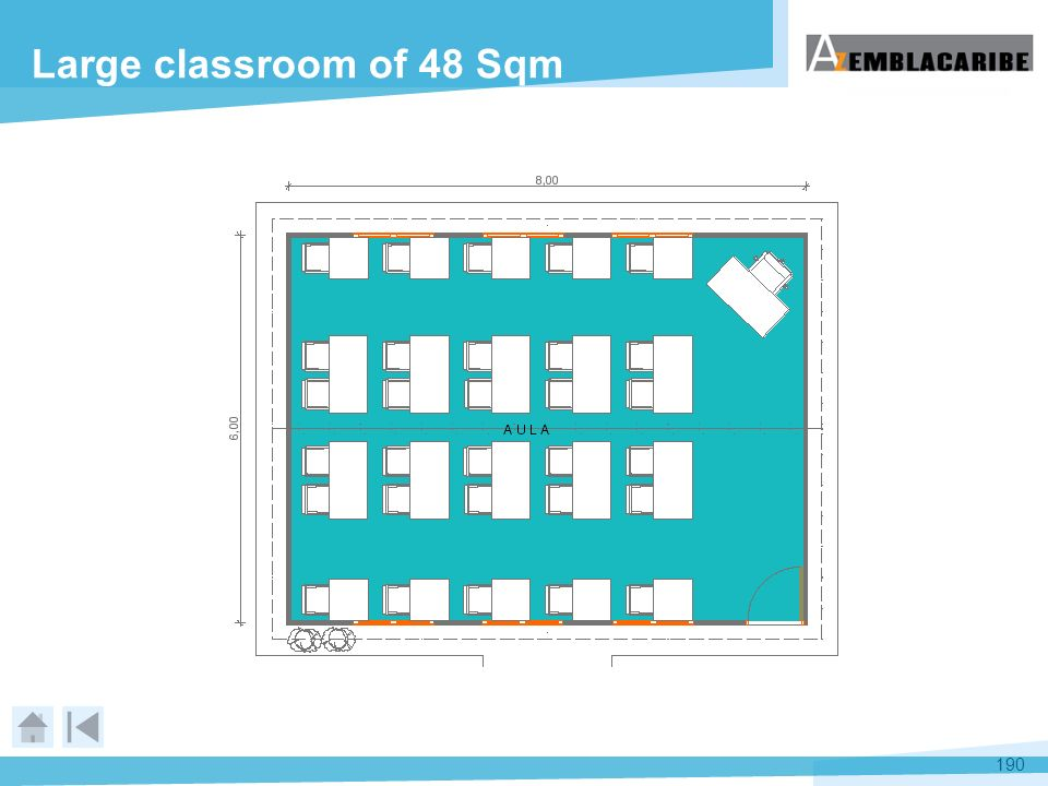 Large classroom of 48 Sqm