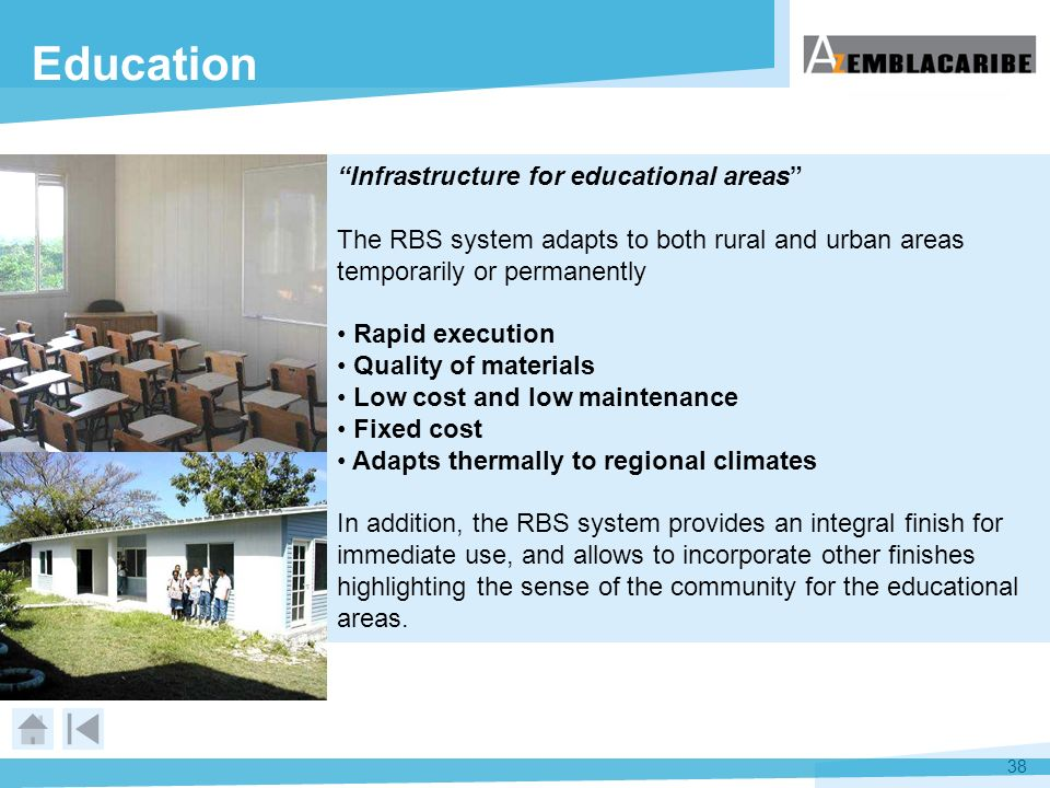 Education Infrastructure for educational areas