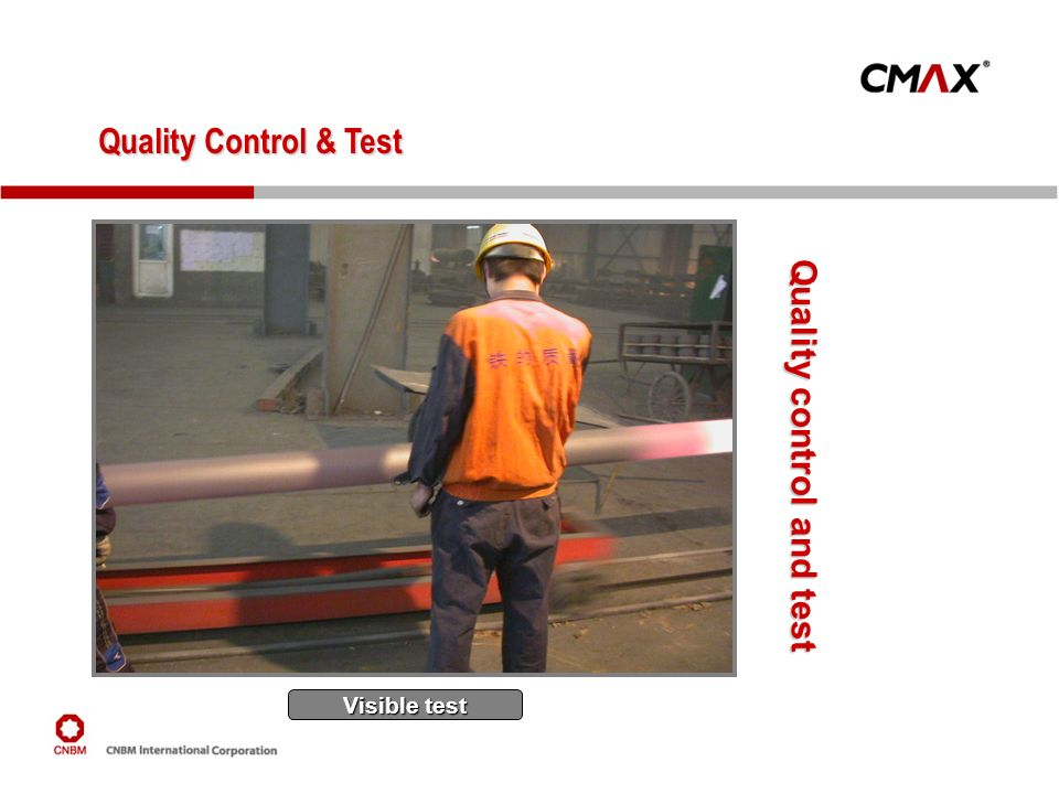 Quality Control & Test Quality control and test Visible test