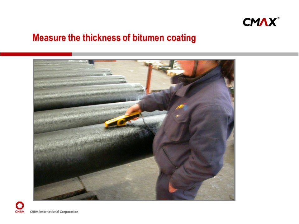 Measure the thickness of bitumen coating