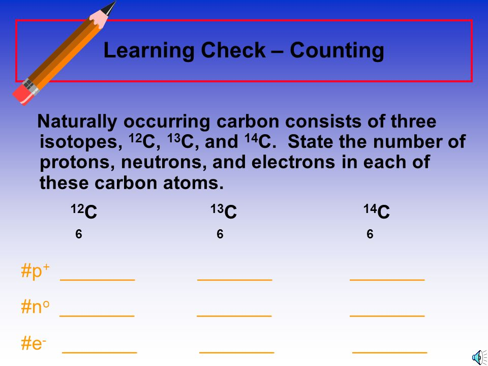 Learning Check – Counting