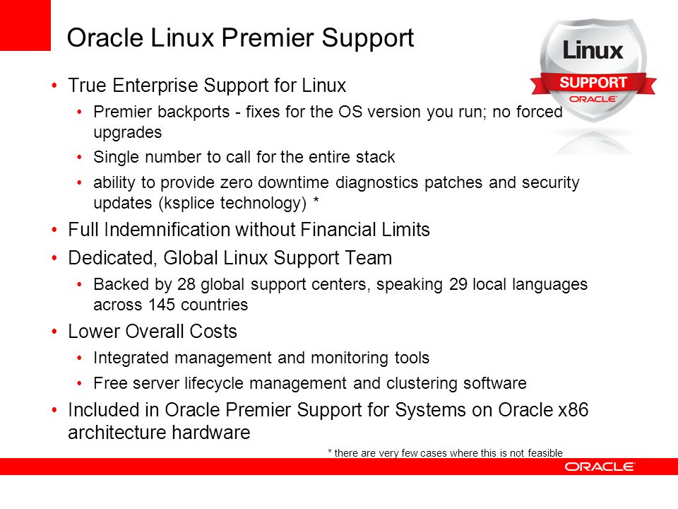 Oracle Linux Premier Support