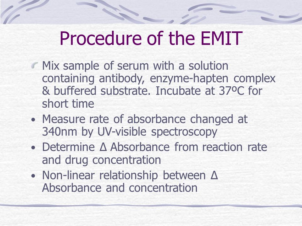 Procedure of the EMIT