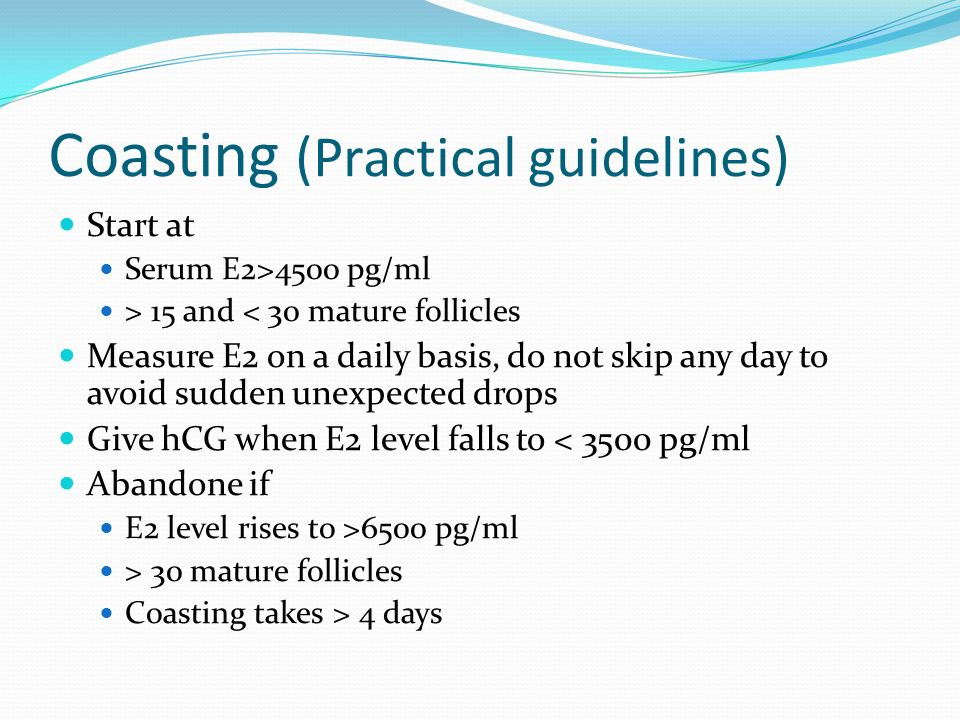Coasting (Practical guidelines)