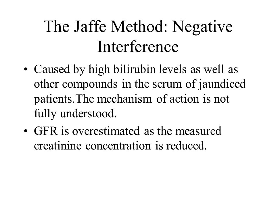 The Jaffe Method: Negative Interference