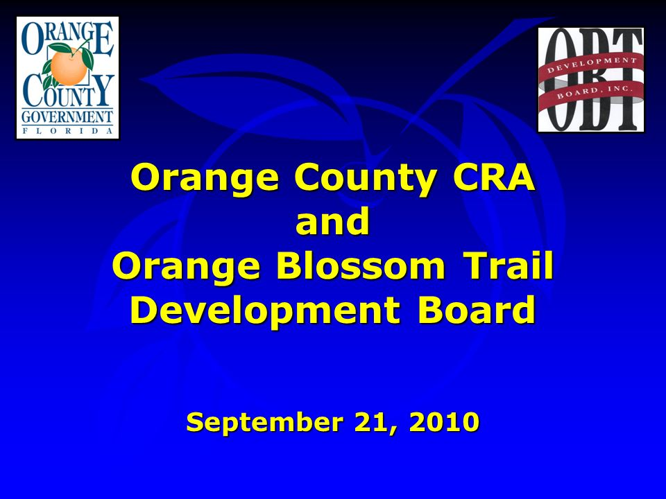 Orange Blossom Trail Development Board