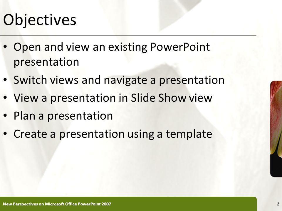 Powerpoint tutorial 1 creating a presentation ppt download objectives open and view an existing powerpoint presentation toneelgroepblik Gallery