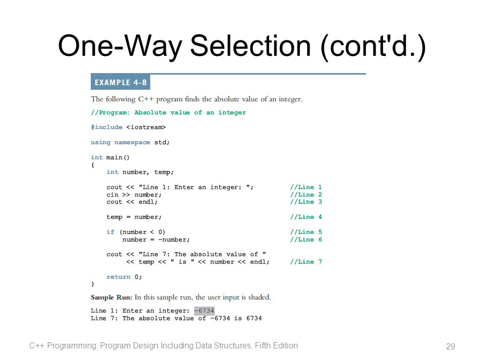 One-Way Selection (cont d.)