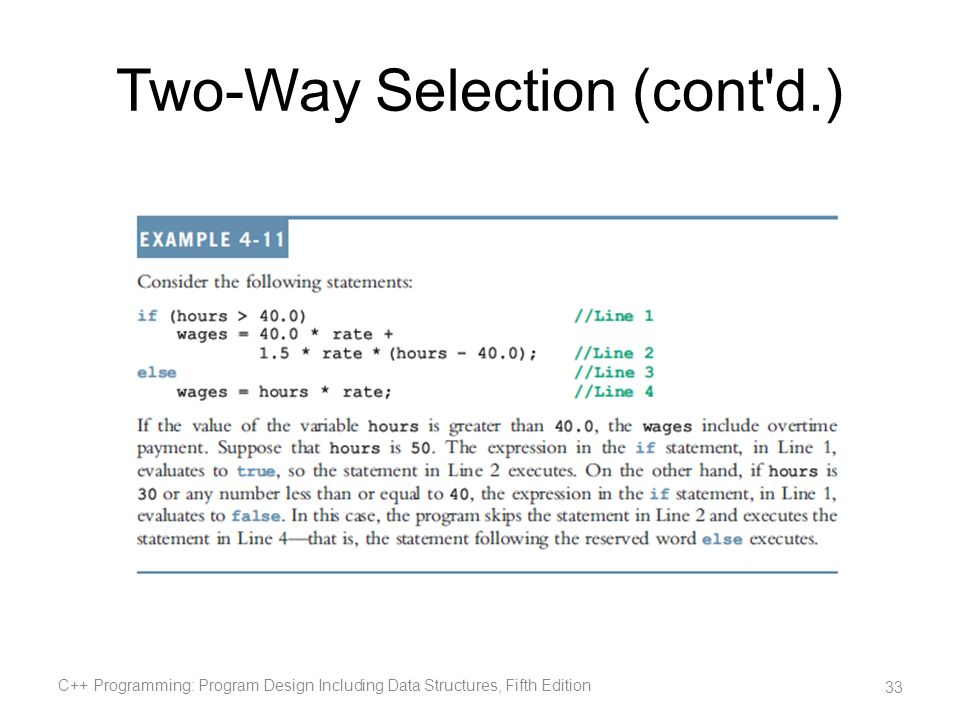 Two-Way Selection (cont d.)