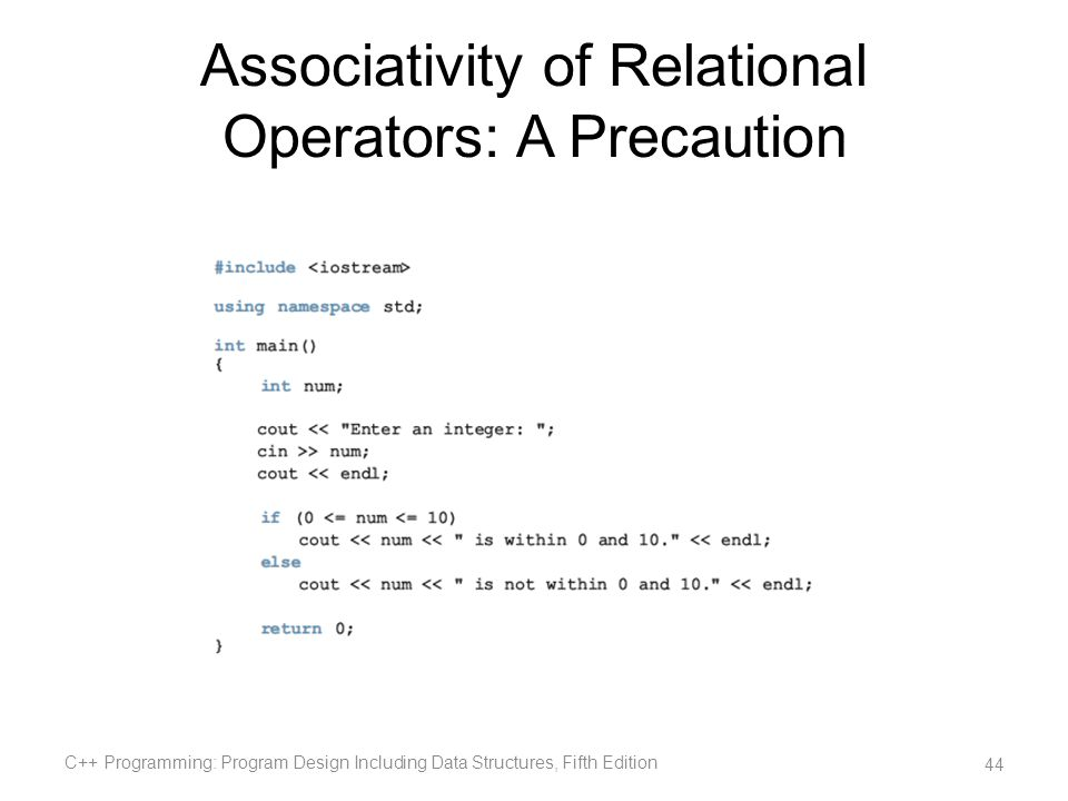 Associativity of Relational Operators: A Precaution