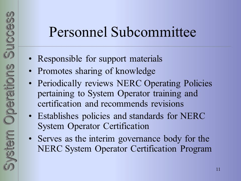 Personnel Subcommittee