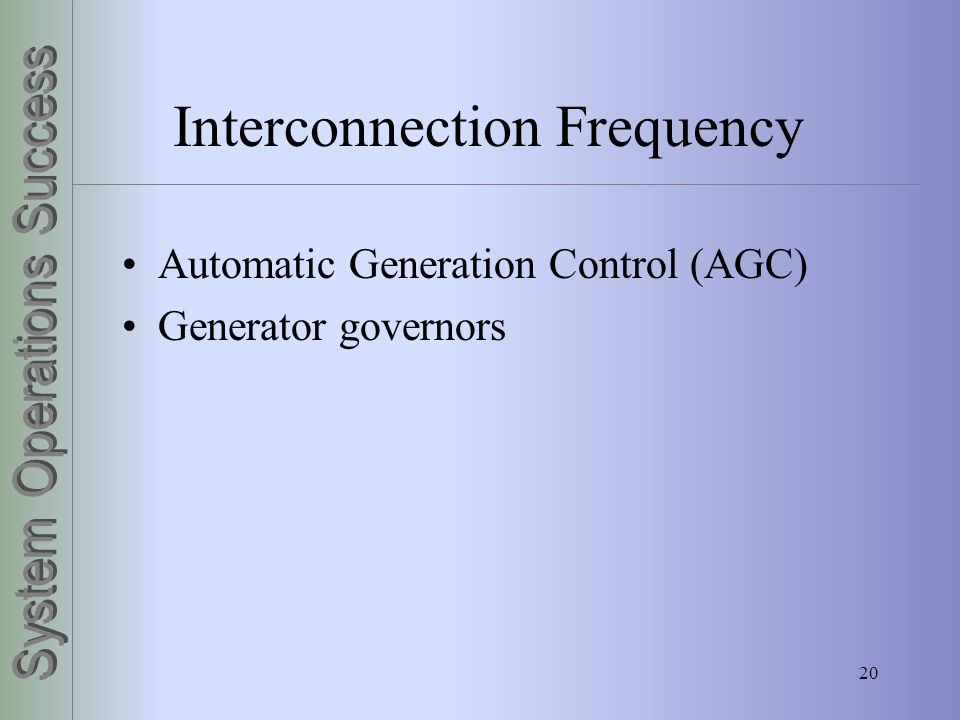 Interconnection Frequency